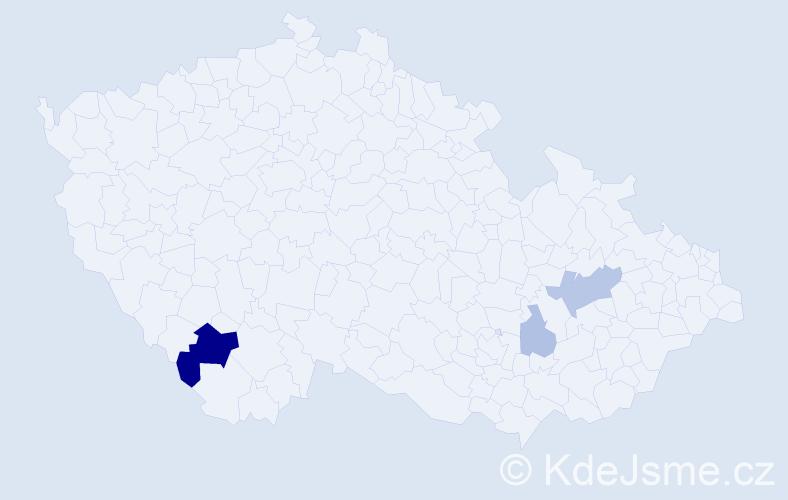 Příjmení: 'Kukulík', počet výskytů 8 v celé ČR