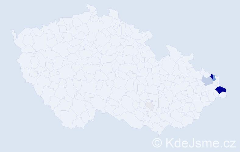 Příjmení: 'Klepacz', počet výskytů 25 v celé ČR