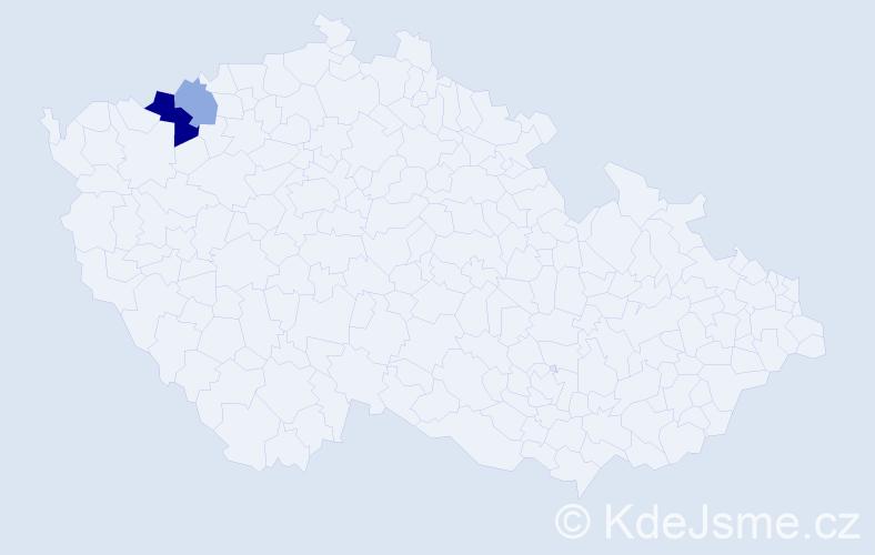 Příjmení: 'Eduardo', počet výskytů 4 v celé ČR