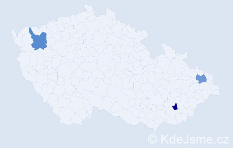 Příjmení: 'Čikota', počet výskytů 4 v celé ČR