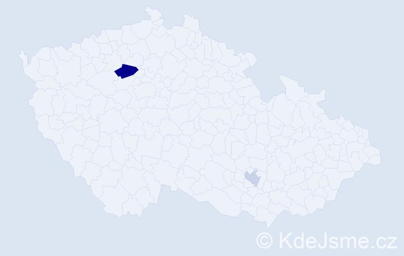 Příjmení: 'Fischmeistrová', počet výskytů 3 v celé ČR