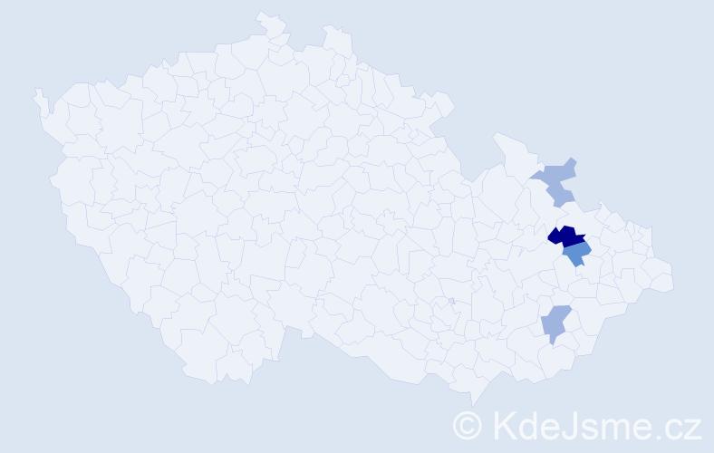 Příjmení: 'Fiebrichová', počet výskytů 6 v celé ČR
