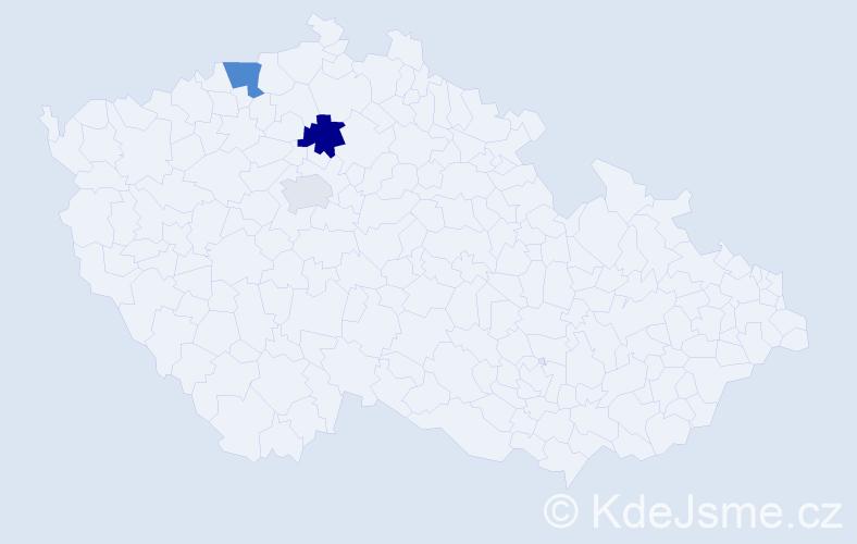Příjmení: 'Chomutov', počet výskytů 5 v celé ČR