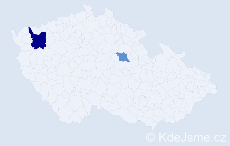 Příjmení: 'Engelskirger', počet výskytů 3 v celé ČR