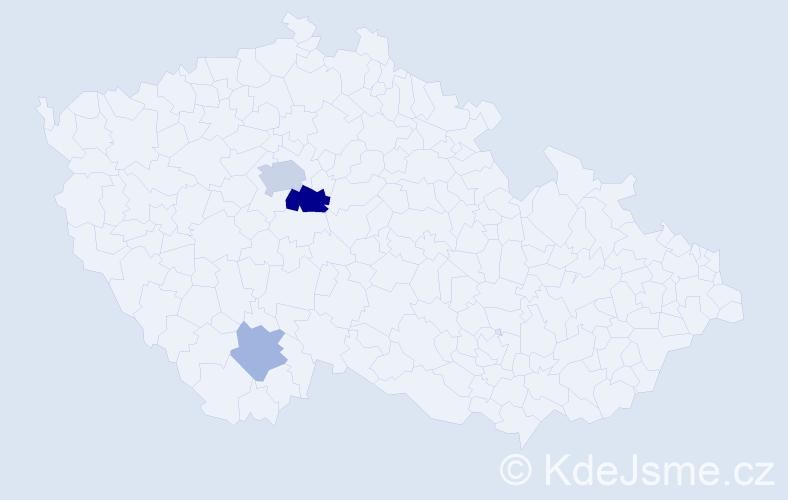 Příjmení: 'Cirek', počet výskytů 7 v celé ČR