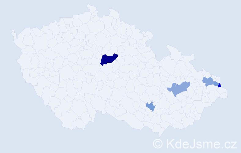 Příjmení: 'Banasinská', počet výskytů 11 v celé ČR