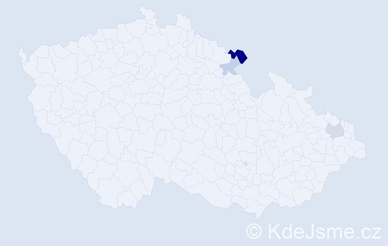 Příjmení: 'Kolinke', počet výskytů 6 v celé ČR