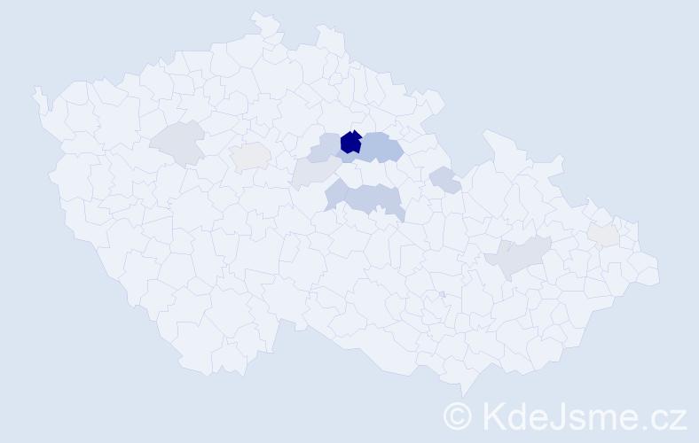 Příjmení: 'Emanovská', počet výskytů 29 v celé ČR