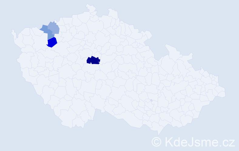 Příjmení: 'Gassauerová', počet výskytů 7 v celé ČR