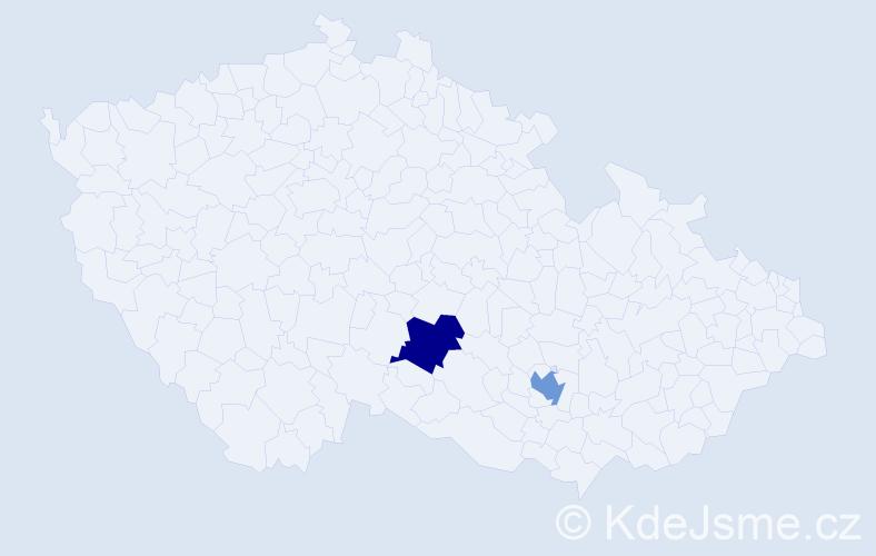 Příjmení: 'Achatzi', počet výskytů 2 v celé ČR