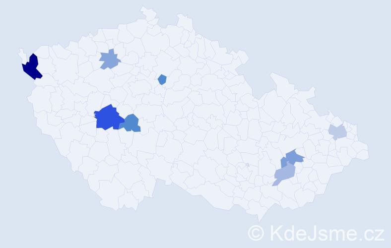 Příjmení: 'Fedasová', počet výskytů 17 v celé ČR