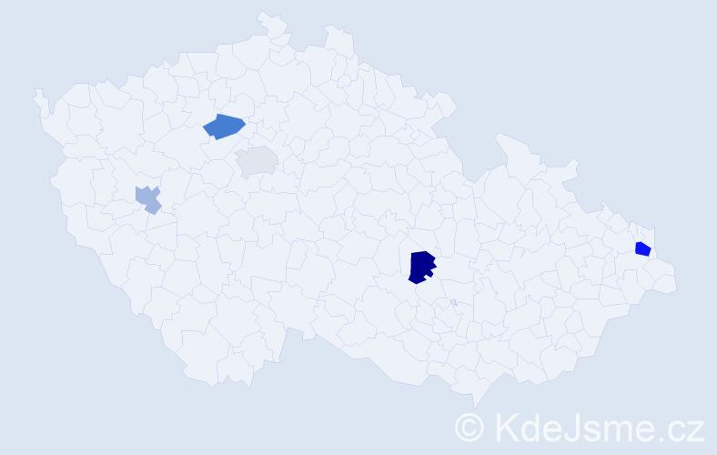 Příjmení: 'Gharbi', počet výskytů 7 v celé ČR