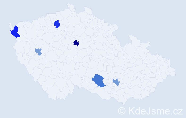 Příjmení: 'Čolakovová', počet výskytů 12 v celé ČR