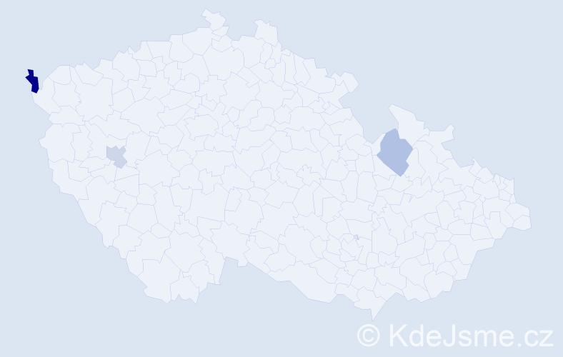 Příjmení: 'Grisník', počet výskytů 4 v celé ČR