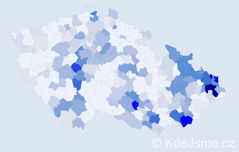 Příjmení: 'Kolková', počet výskytů 857 v celé ČR