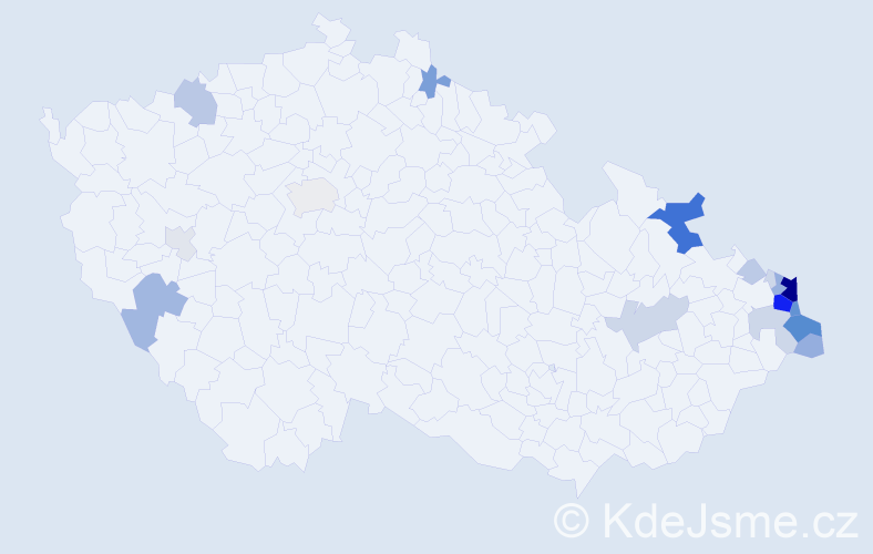 Příjmení: 'Galuszková', počet výskytů 122 v celé ČR