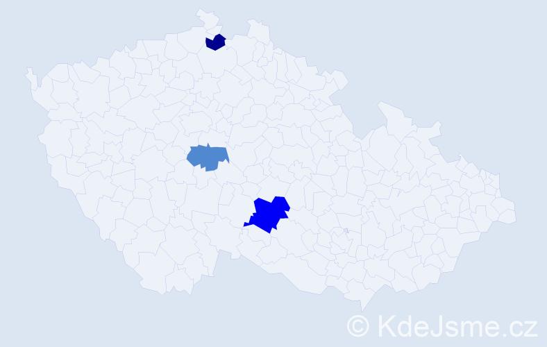 Příjmení: 'Fiantok', počet výskytů 9 v celé ČR