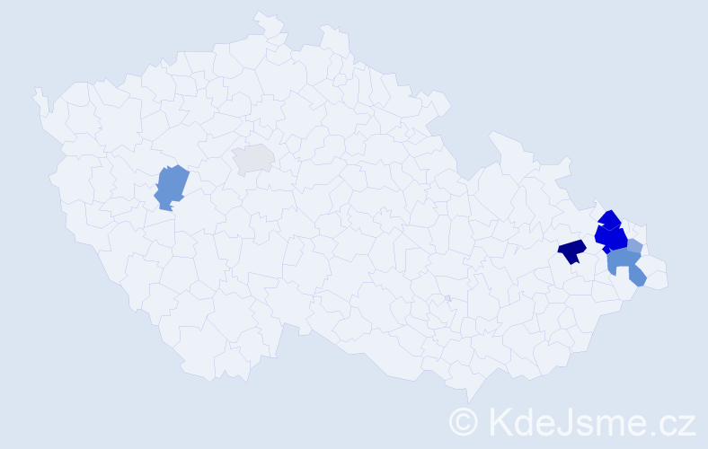 Příjmení: 'Gavlová', počet výskytů 18 v celé ČR
