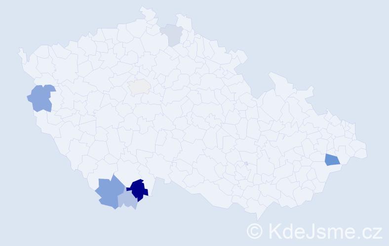 Příjmení: 'Ebenhöhová', počet výskytů 24 v celé ČR