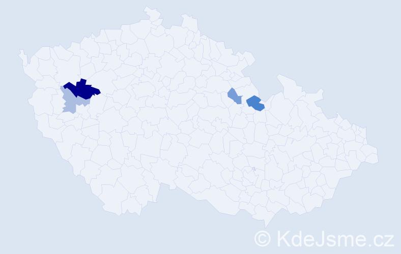 Příjmení: 'Gergö', počet výskytů 7 v celé ČR