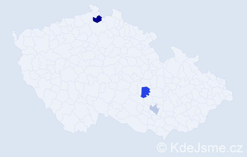 Příjmení: 'Boes', počet výskytů 5 v celé ČR
