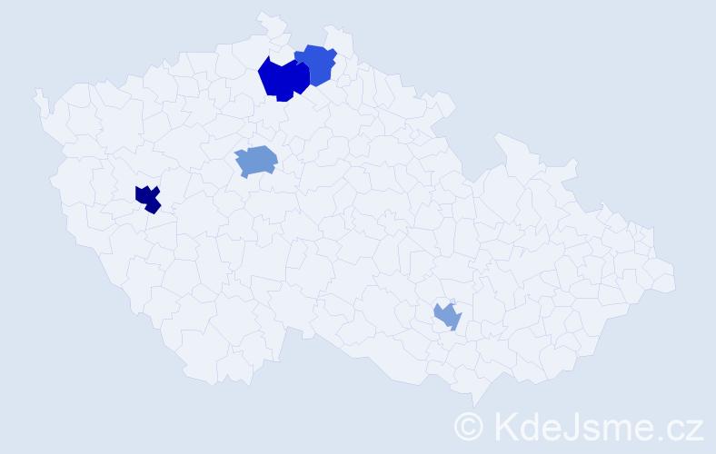 Příjmení: 'Kraemer', počet výskytů 17 v celé ČR