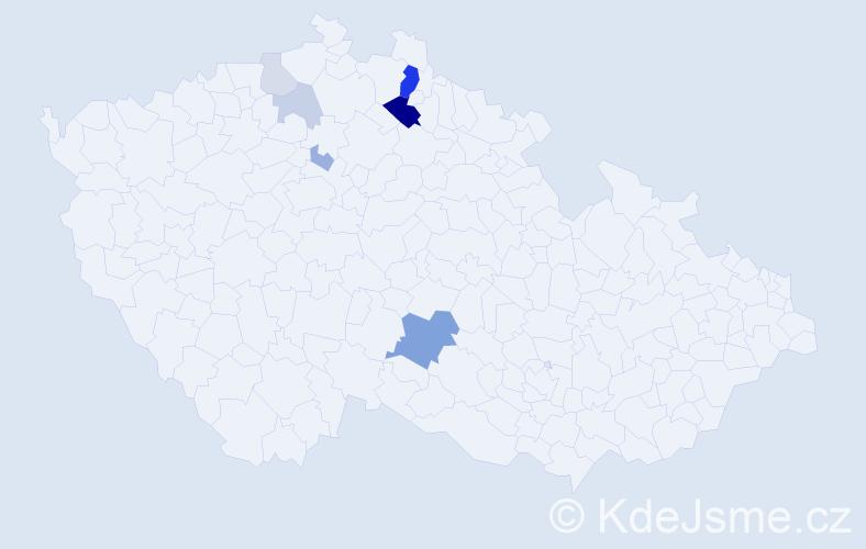 Příjmení: 'Berndt', počet výskytů 20 v celé ČR