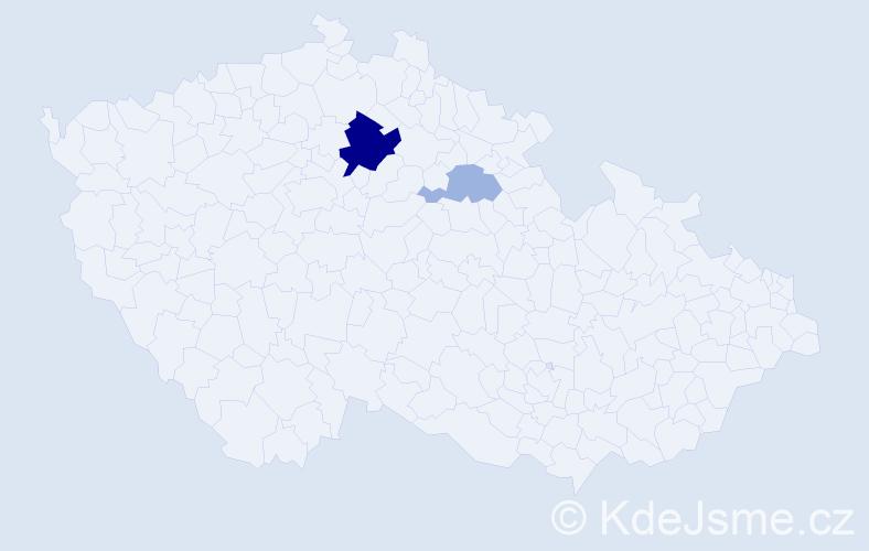 Příjmení: 'Bajtalon', počet výskytů 23 v celé ČR