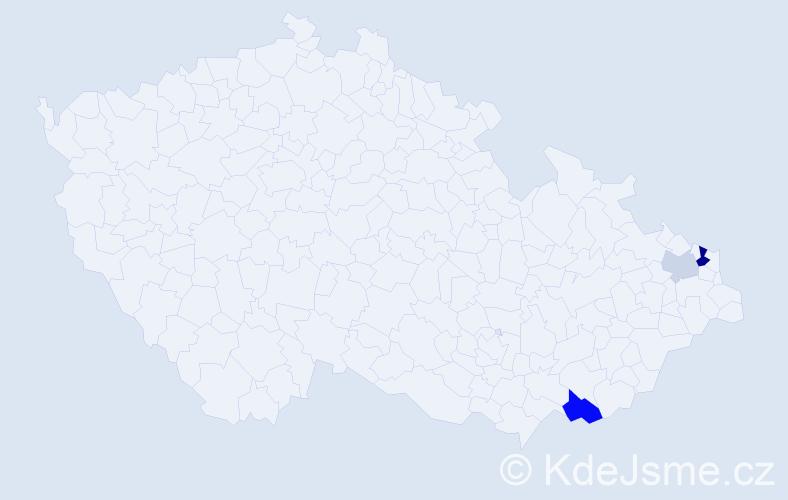 Příjmení: 'Krmašková', počet výskytů 6 v celé ČR