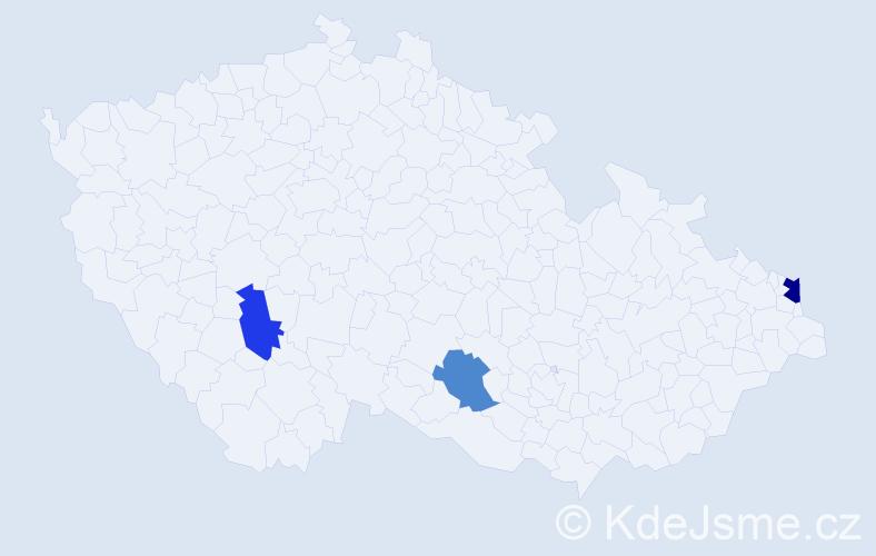 Příjmení: 'Fašungová', počet výskytů 4 v celé ČR
