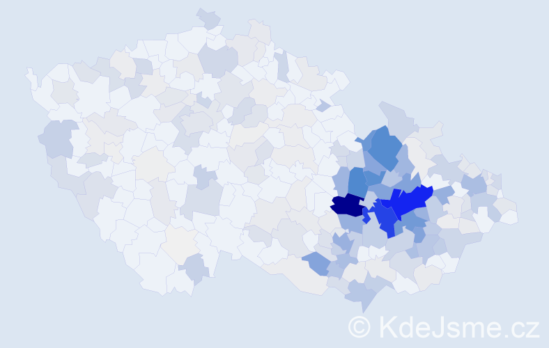 Příjmení: 'Dokoupilová', počet výskytů 1139 v celé ČR