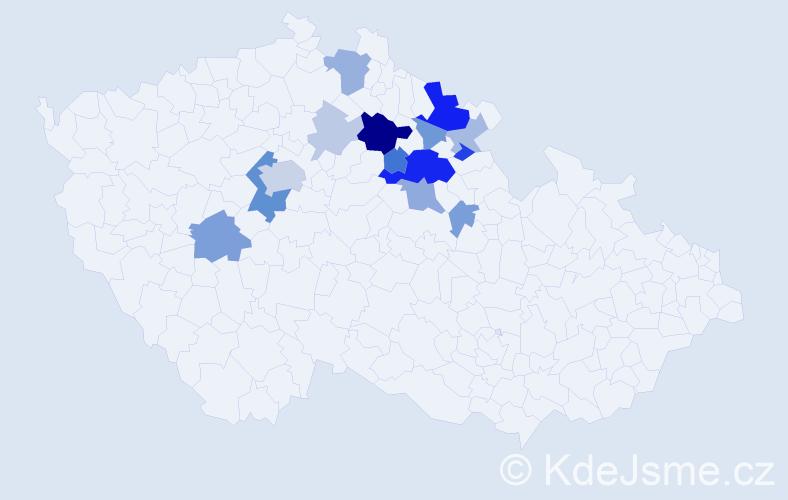 Příjmení: 'Etrych', počet výskytů 41 v celé ČR