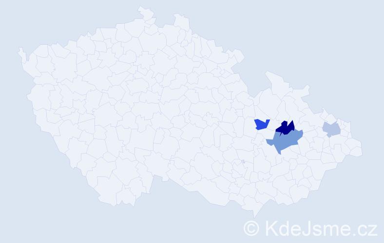Příjmení: 'Frőml', počet výskytů 8 v celé ČR