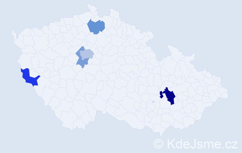 Příjmení: 'Basjuková', počet výskytů 9 v celé ČR