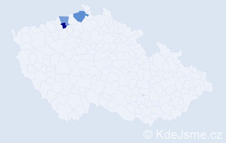 Příjmení: 'Ganyo', počet výskytů 33 v celé ČR