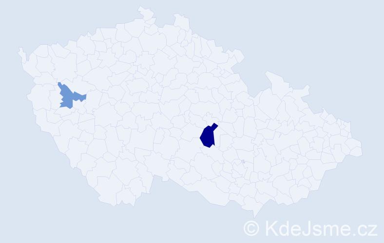 Příjmení: 'Göttler', počet výskytů 7 v celé ČR