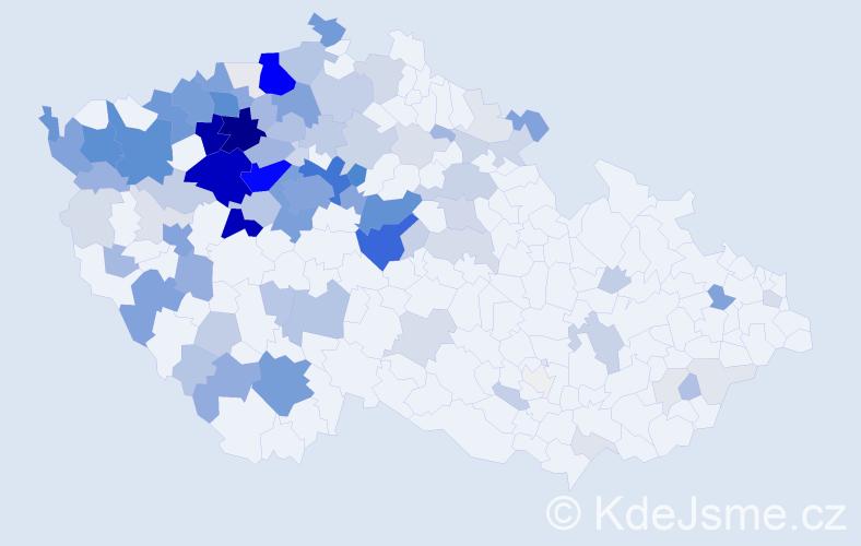 Příjmení: 'Jirkovská', počet výskytů 478 v celé ČR