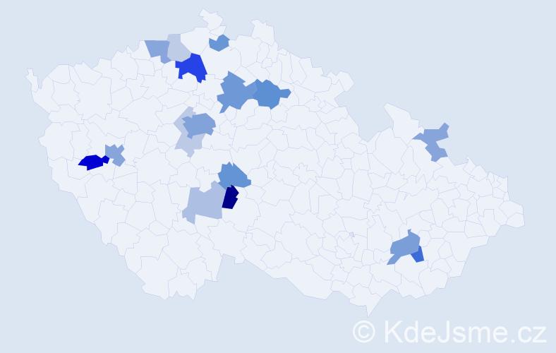 Příjmení: 'Holerová', počet výskytů 44 v celé ČR