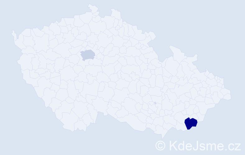 Příjmení: 'Finn', počet výskytů 2 v celé ČR