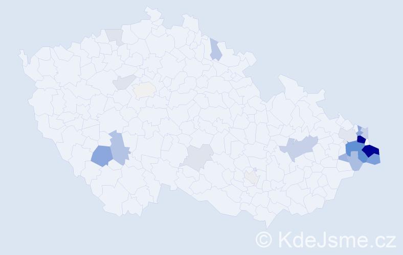 Příjmení: 'Holeksa', počet výskytů 78 v celé ČR