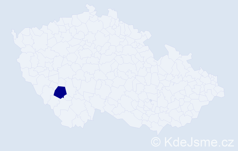 """Příjmení: '""""Častová Svítivá""""', počet výskytů 1 v celé ČR"""