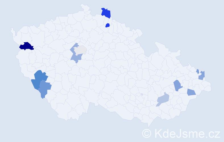 Příjmení: 'Arendášová', počet výskytů 22 v celé ČR