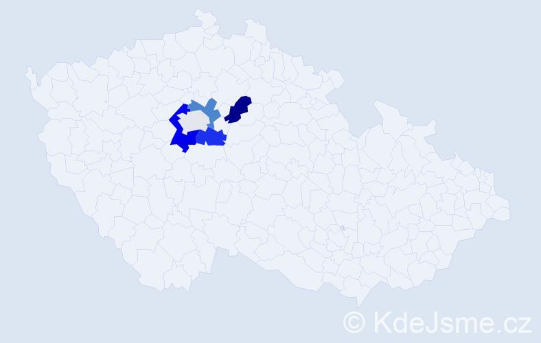 Příjmení: 'Filikar', počet výskytů 11 v celé ČR