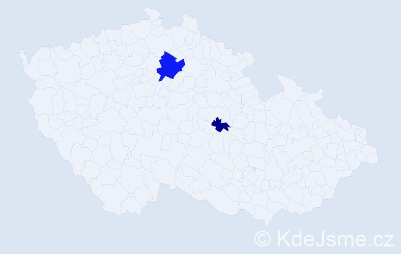 Příjmení: 'Kerscher', počet výskytů 4 v celé ČR