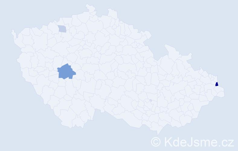 Příjmení: 'Blaszczyk', počet výskytů 8 v celé ČR