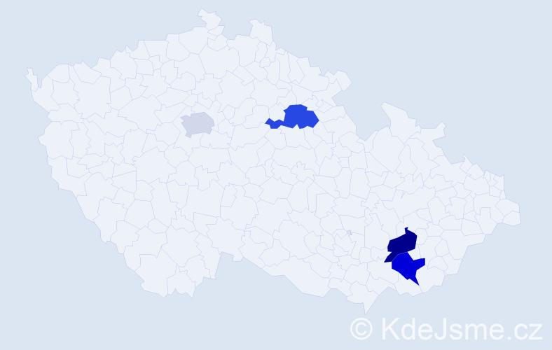 Příjmení: 'Abdulrahman', počet výskytů 11 v celé ČR