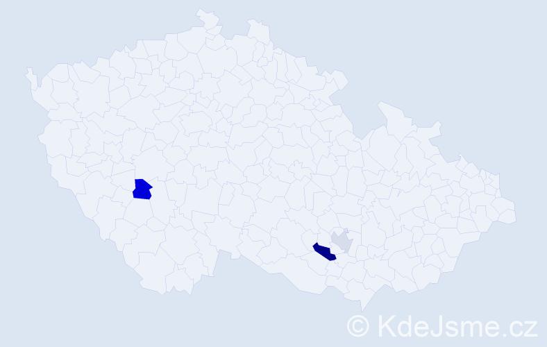 Příjmení: 'Cifrák', počet výskytů 4 v celé ČR