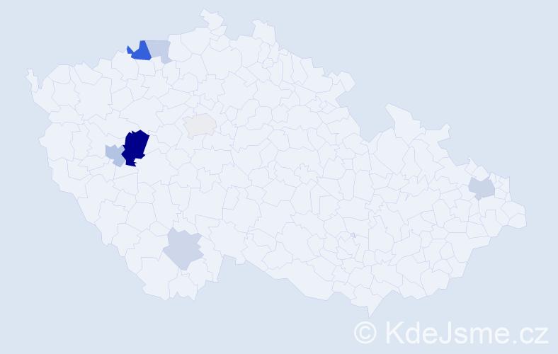 Příjmení: 'Auinger', počet výskytů 16 v celé ČR