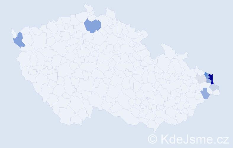 Příjmení: 'Gamrot', počet výskytů 42 v celé ČR