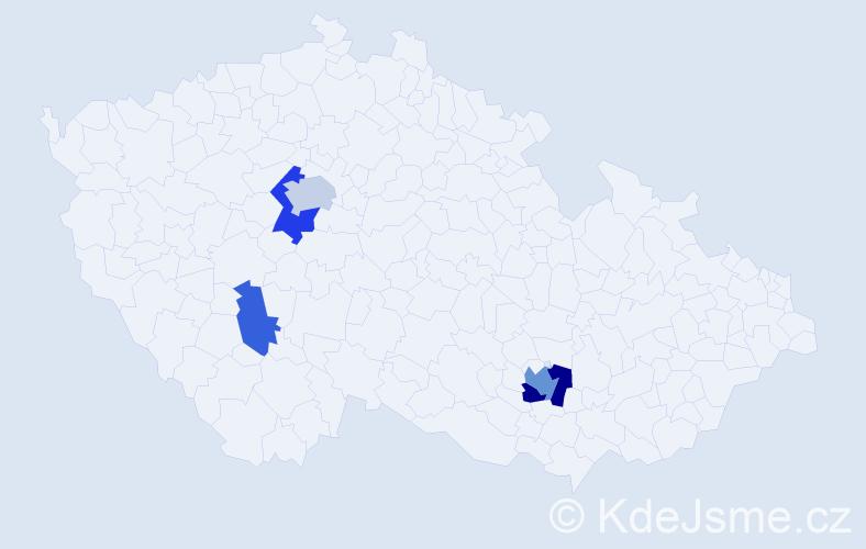 Příjmení: 'Karpa', počet výskytů 10 v celé ČR